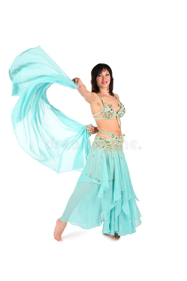 Shawl dance woman royalty free stock photography