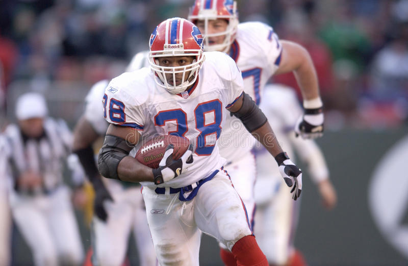 Shawn Bryson. Buffalo Bills Running back Shawn Bryson #38. (Image taken from color slide royalty free stock images