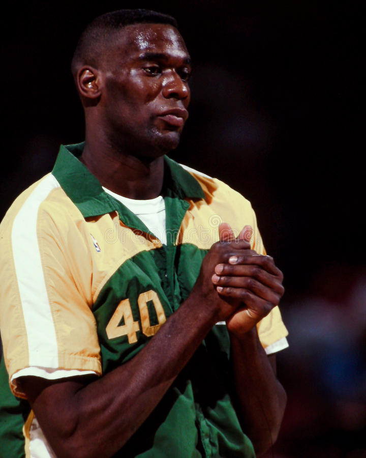 Shawn Kemp, Seattle Sonics images stock