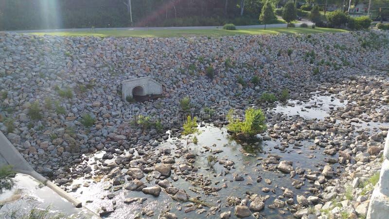 Shawnee湖水坝 图库摄影