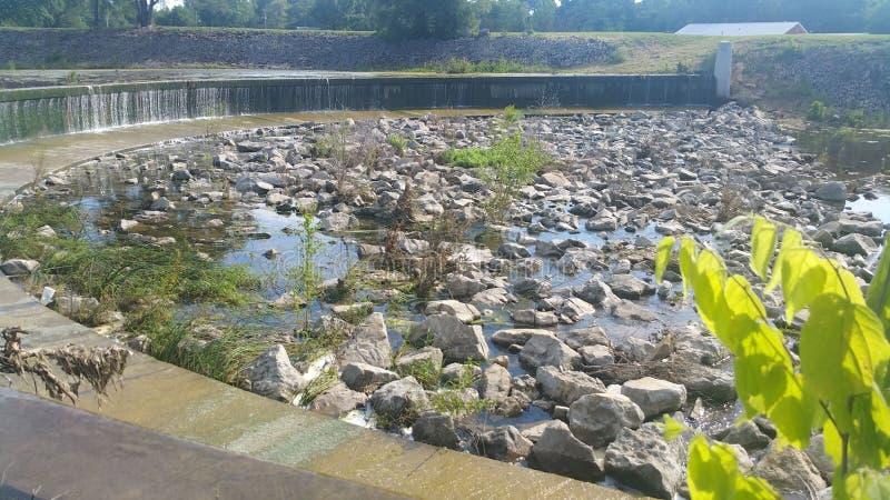 Shawnee湖水坝 免版税库存照片