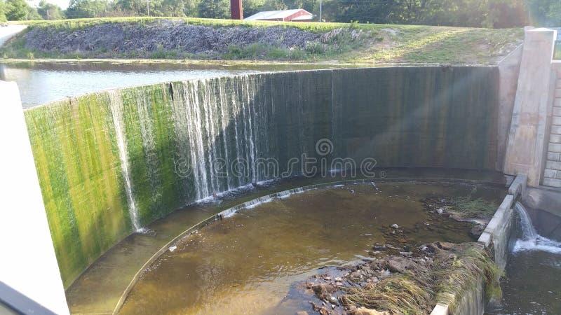 Shawnee湖水坝 库存照片
