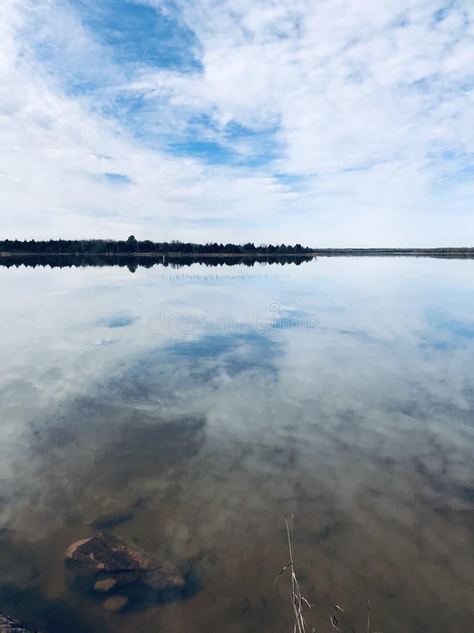 Shawnee Twin Lakes. 30 miles east of Oklahoma City, Pottawatomie County, Oklahoma. Beautiful year around has the most beautiful sunsets I've seen stock image