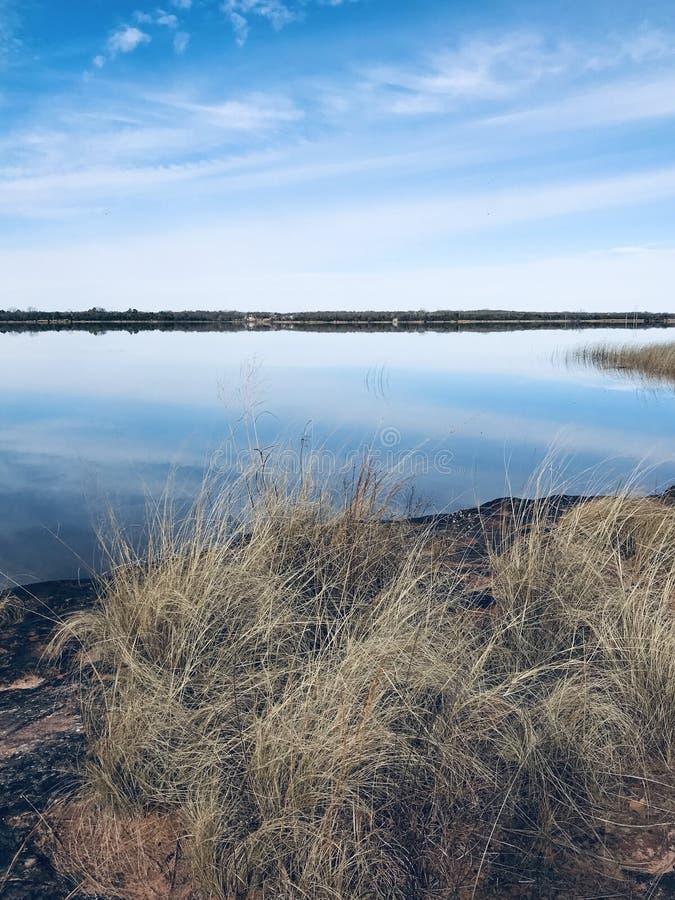 Shawnee Twin Lakes. 30 miles east of Oklahoma City, Pottawatomie County, Oklahoma. Beautiful year around has the most beautiful sunsets I've seen stock photo