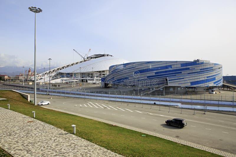 Shayba arena i Fisht Olimpijski stadium obraz royalty free