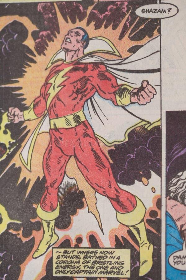 Shazam DC-Superheldcomicfigur vektor abbildung