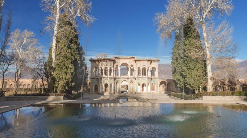 Shazdeh Mahan庭院 免版税库存照片