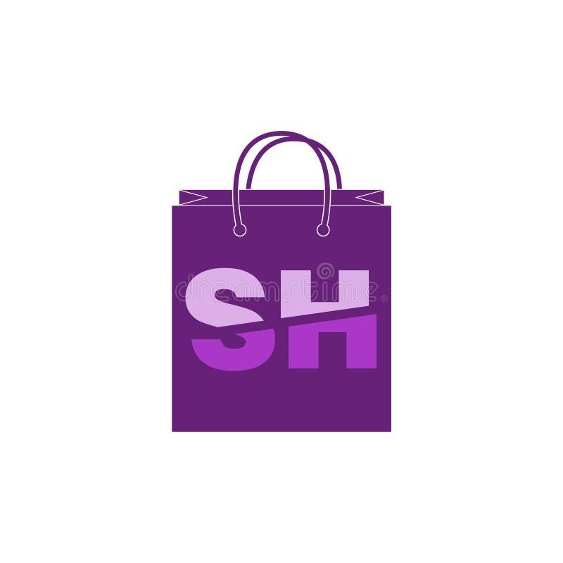 SHbuchstabe Logo Template lizenzfreie stockbilder