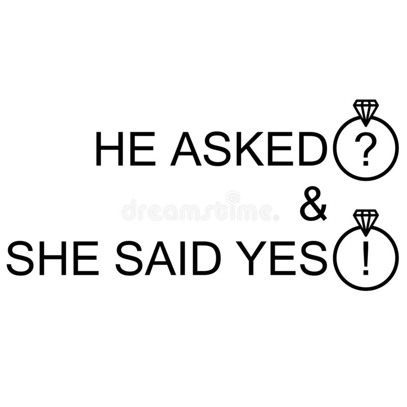 Free She Said Yes On Will You Marry Royalty Free Stock Photo - 150787215