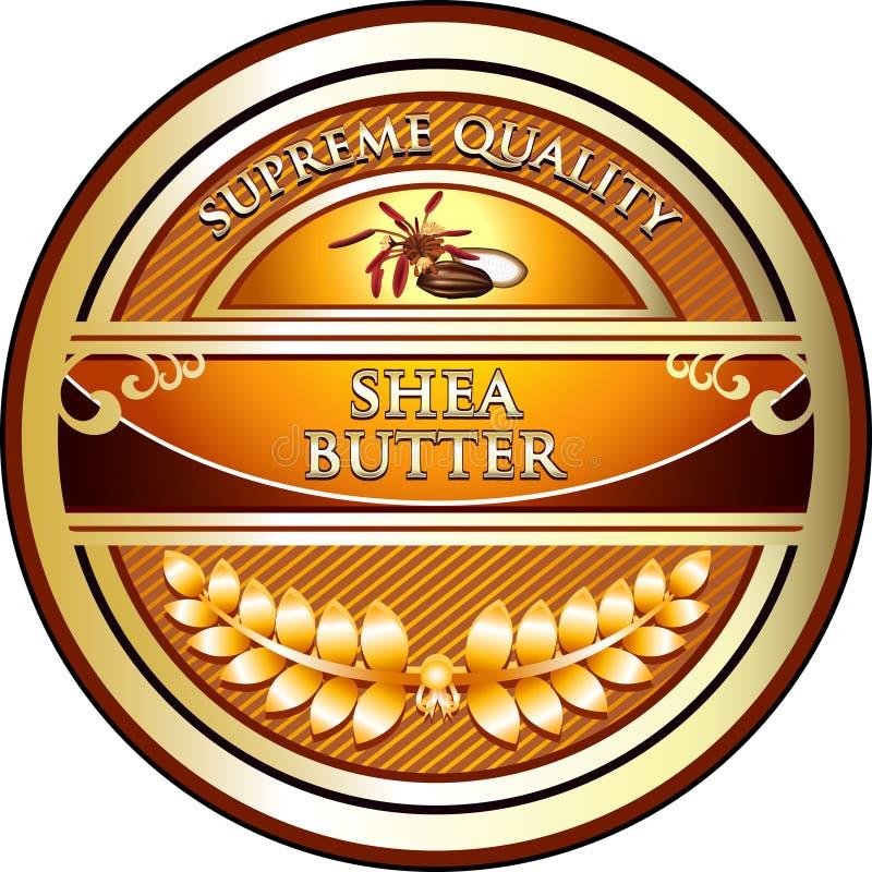Shea Butter Vintage Label stock images