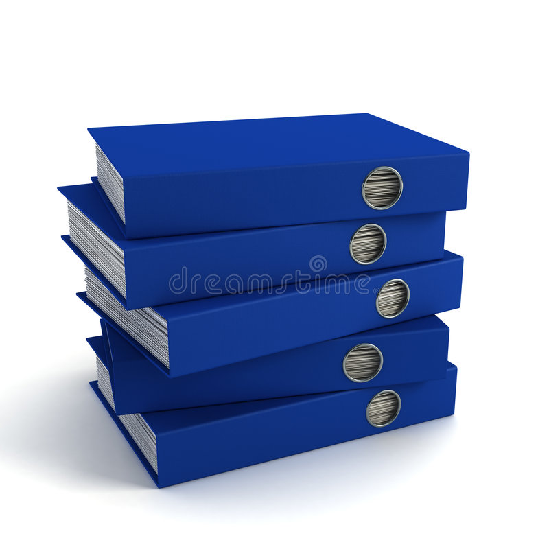 Download Sheaf office folders stock illustration. Illustration of documents - 3871824