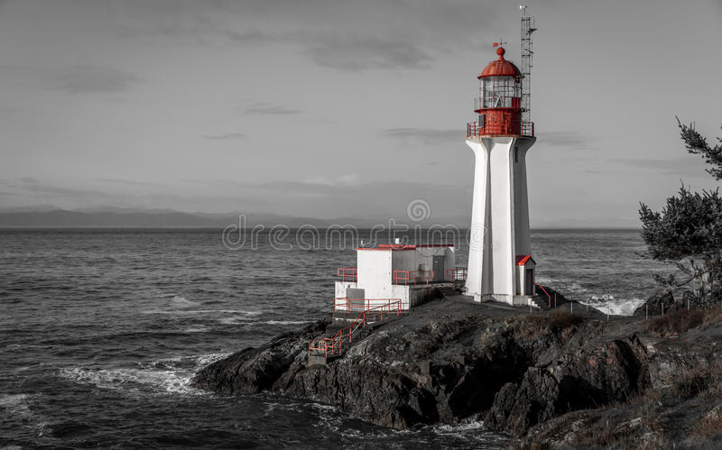 Shearingham latarnia morska czarny i biały obrazy stock