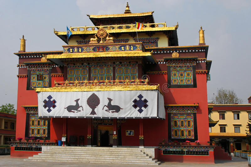 Shechen monastery royalty free stock image