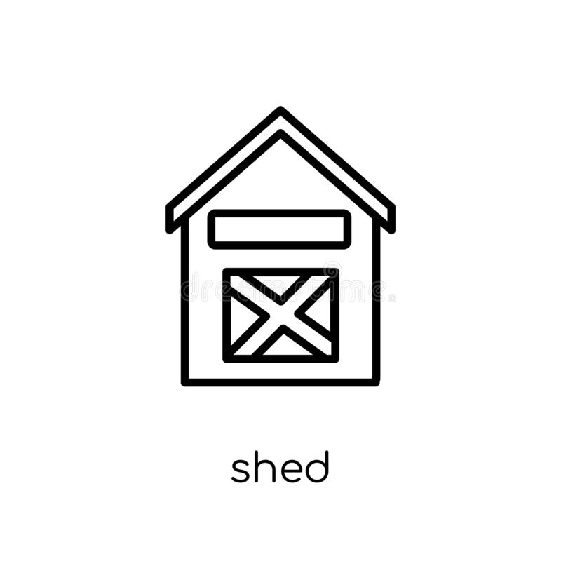 Shed icon from Agriculture, Farming and Gardening collection. royalty free illustration