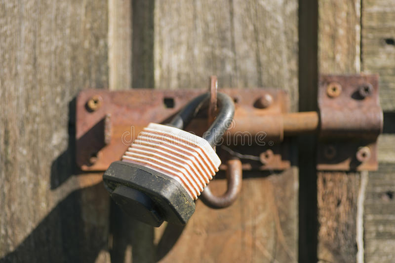 Download Shed lock stock image. Image of summer, wood, safe, rust - 40520149