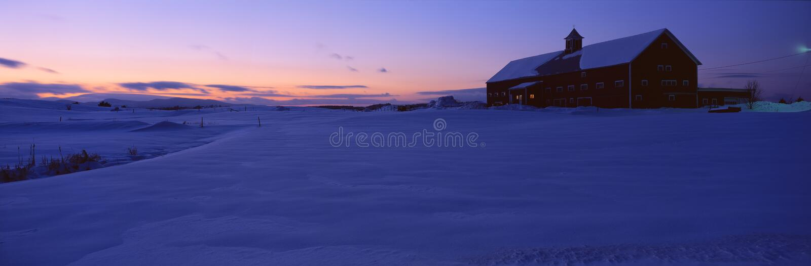 Shed in snow royalty free stock photo