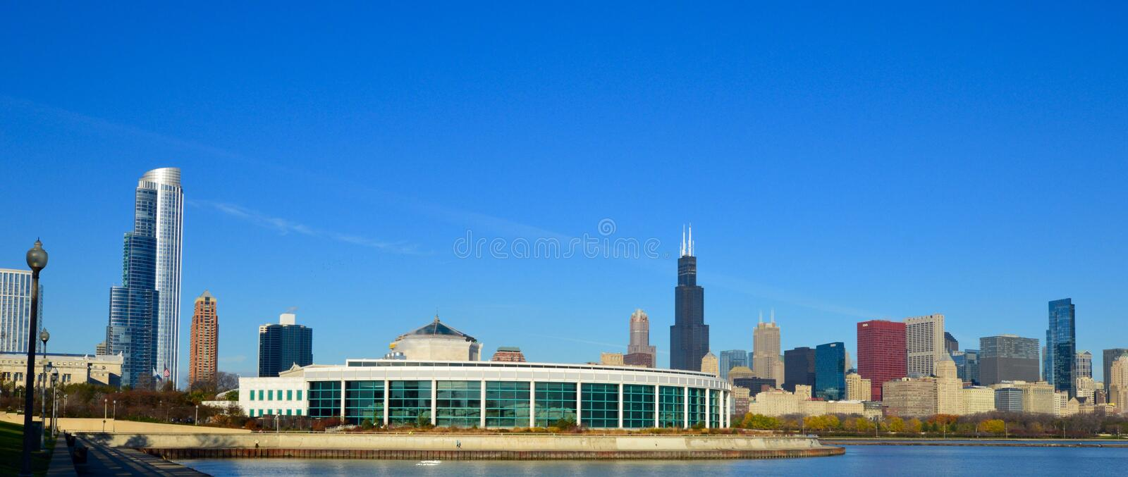 The Shedd. This is a picture of the Shedd Aquarium in Chicago, Illinois. The aquarium was designed by the Architects Graham, Anderson, Probst, and White, and royalty free stock photography