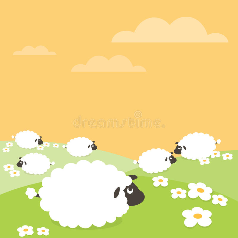 Download Sheep stock vector. Illustration of field, north, lamb - 10099369