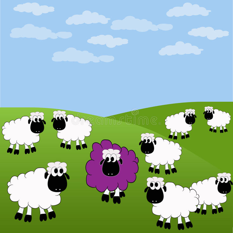 Download Sheep stock vector. Image of bleet, happiness, individuality - 12618085