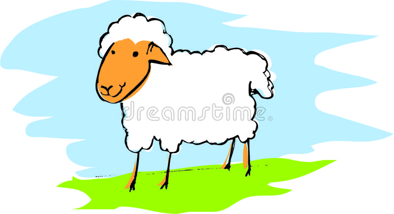 Download Sheep stock vector. Image of grass, mutton, lamb, sheep - 428287