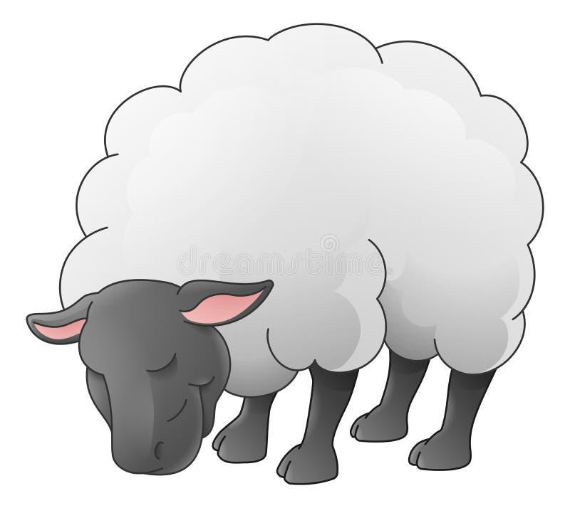 Sheep Animal Cartoon Character stock illustration