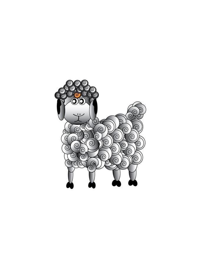 Download Sheep , Aries stock vector. Illustration of farm, grey - 9724165