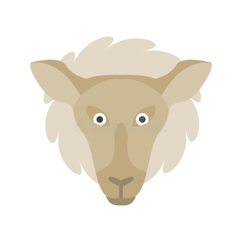 Lamb Face. Sheep, face, lamb icon vector image. Can also be used for Animal Faces. Suitable for mobile apps, web apps and print media stock illustration