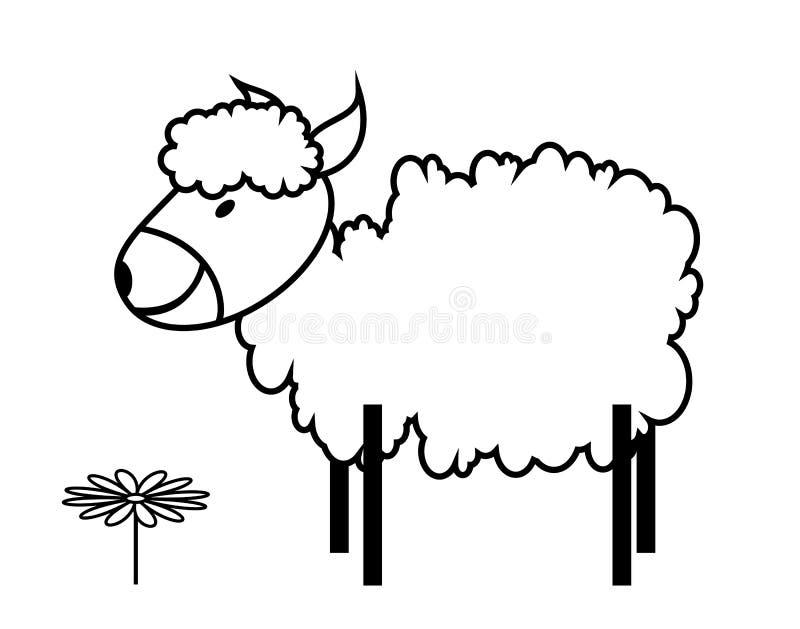 Download Sheep stock vector. Image of primitive, flower, easter - 33190653