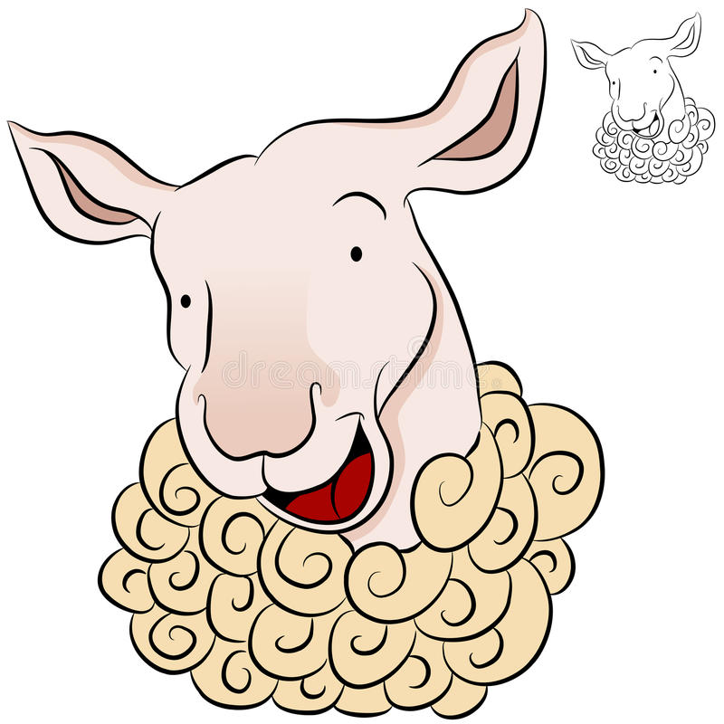 Download Sheep Head stock vector. Image of graphic, farm, smiling - 22431140