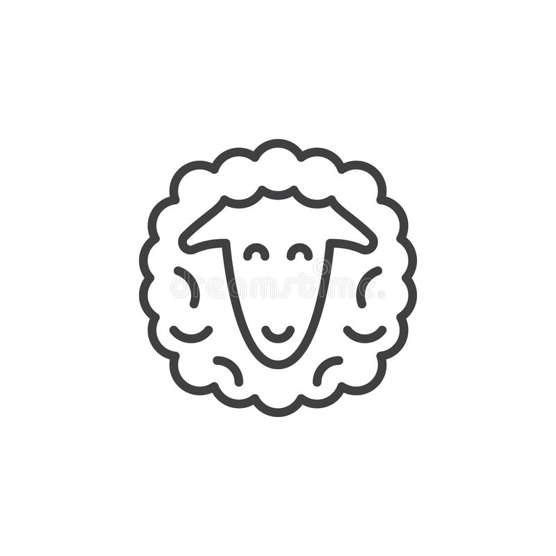 Download Sheep Head Line Icon Stock Vector Illustration Of