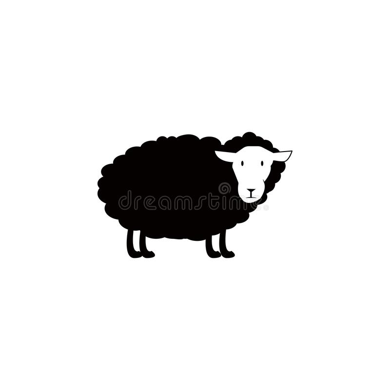 Sheep icon. Element of farm for mobile concept and web apps. Icon for website design and development, app development. Premium ico. N on white background stock illustration