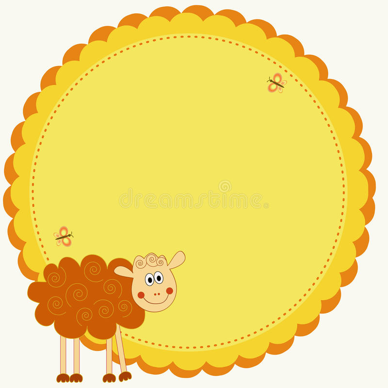 Sheep illustration royalty free stock photo