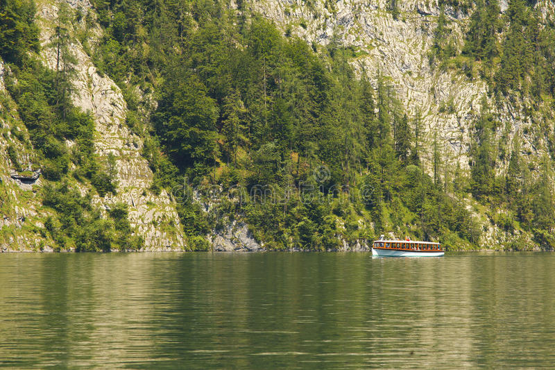 Download Sheep On The Lake Of Königsee, Berchtesgaden National Park, Ger Stock Photo - Image: 83702526