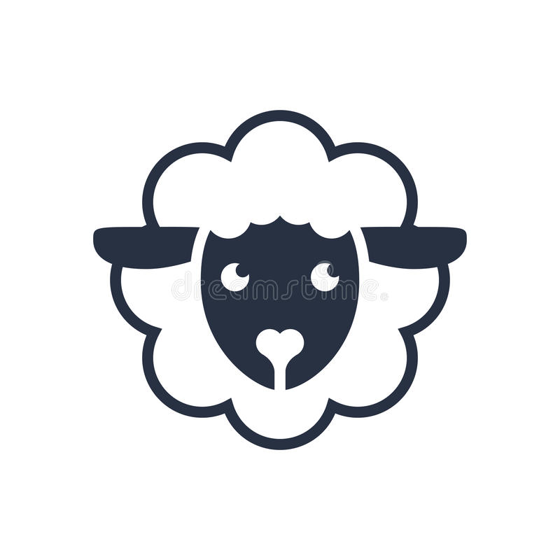 Sheep Logo. Vector Logo Template. Sheep Head Line Icon, Filled ...