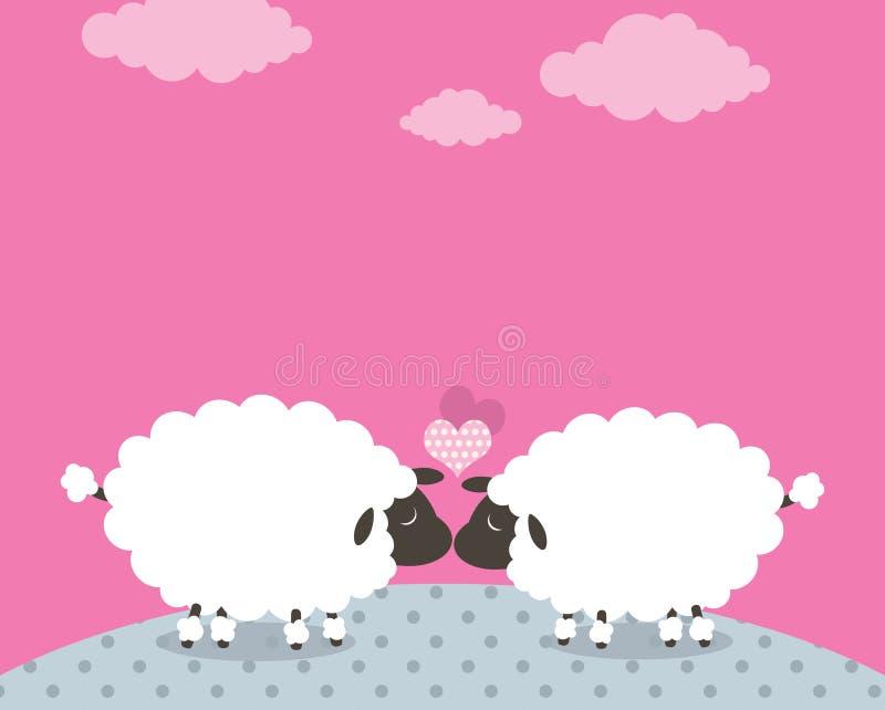 Sheep love stock illustration