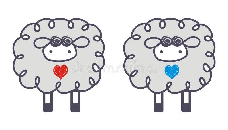 Sheep In Love Stock Photo