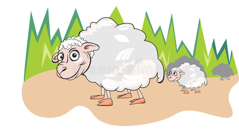 Download Sheep Or Ovis Aries, Illustration Stock Vector - Image: 25967272