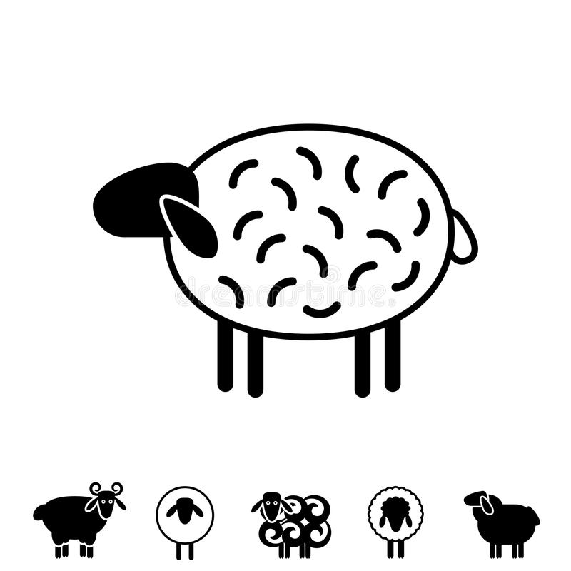 Sheep Or Ram Icon, Logo, Template, Pictogram Stock Vector ...