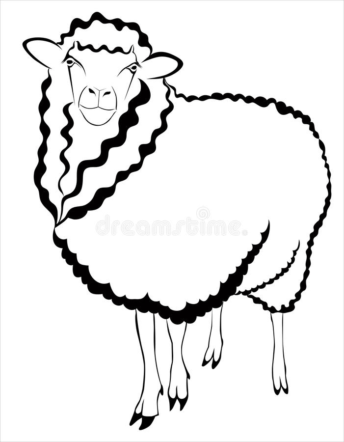 Download Sheep ram lamb stock vector. Image of isolated, farming - 31600216