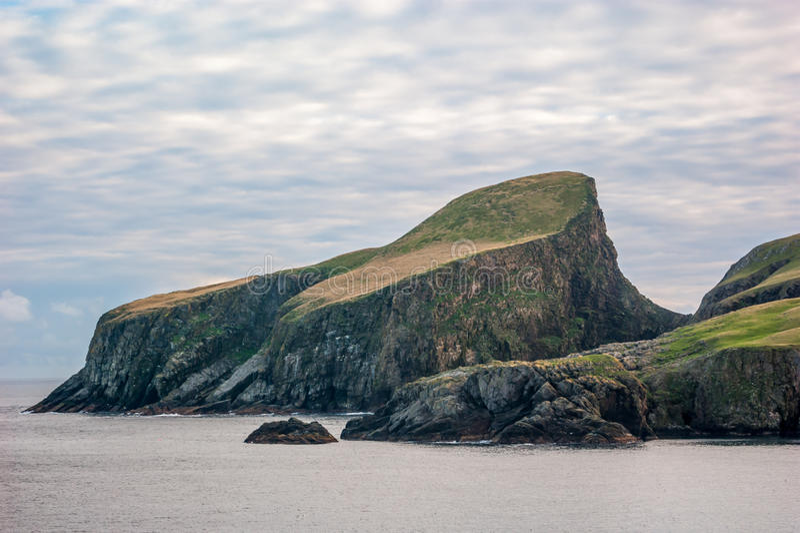 Sheep Rock Fair Isle Shetland Stock Image - Image of coast ...