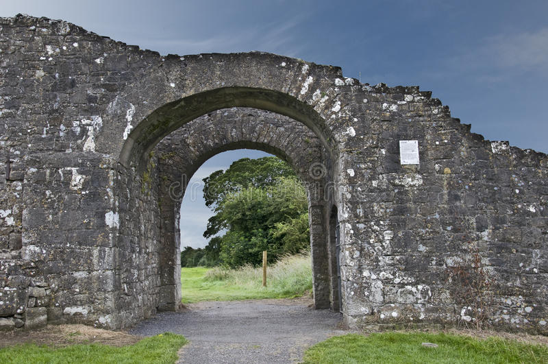 Sheep's Gate. The last remaining part of Trim town wall built during the towns hey day in the second half of the 13th Century royalty free stock photography