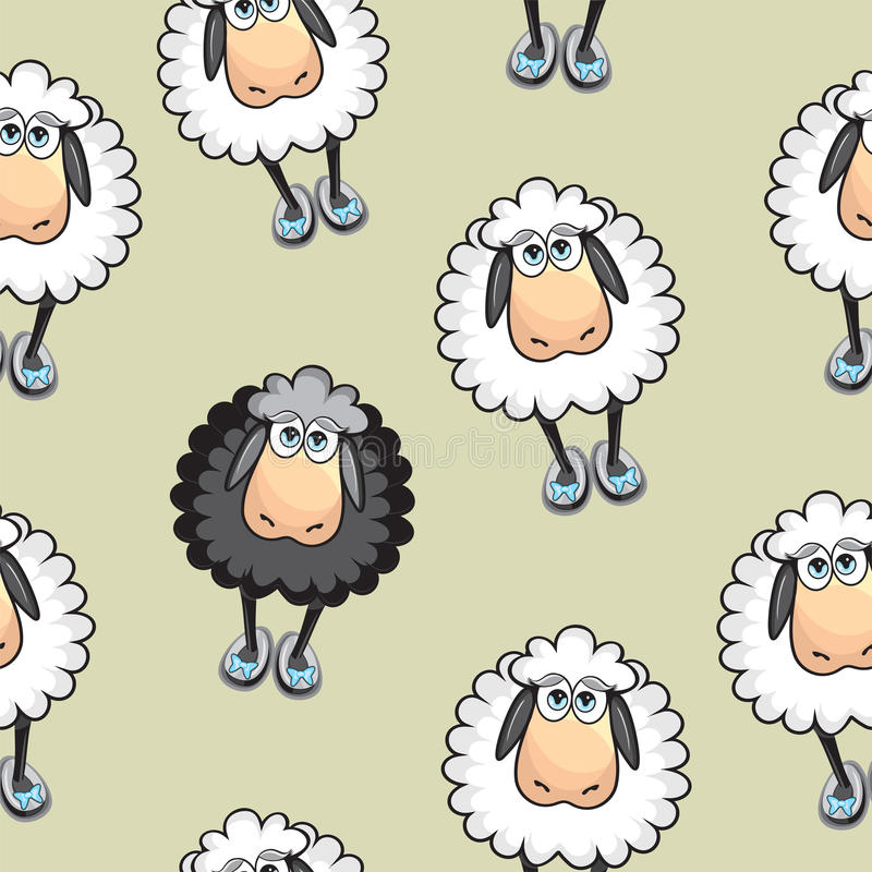 Download Sheep Seamless pattern stock vector. Image of repeat - 31921860