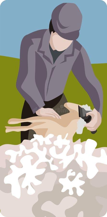 Sheep Shearer Illustration royalty free illustration