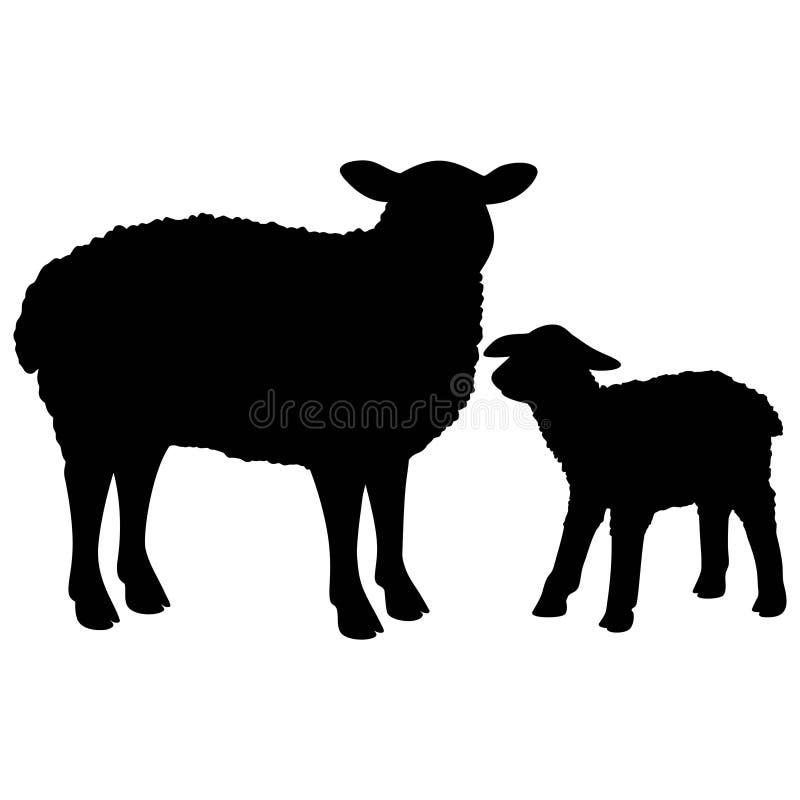 Sheep Silhouette vector illustration