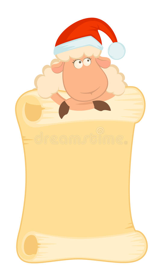 Download Sheep In The Suit Of Santa Claus Stock Vector - Image: 16554463