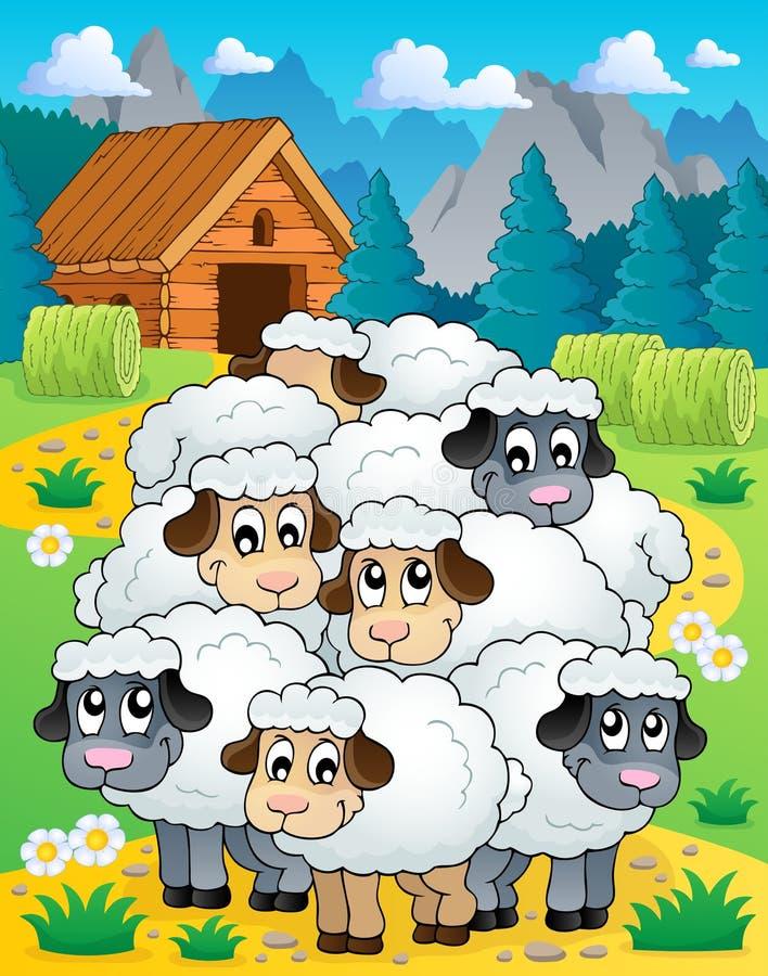 Sheep Theme Image 4 Stock Photos