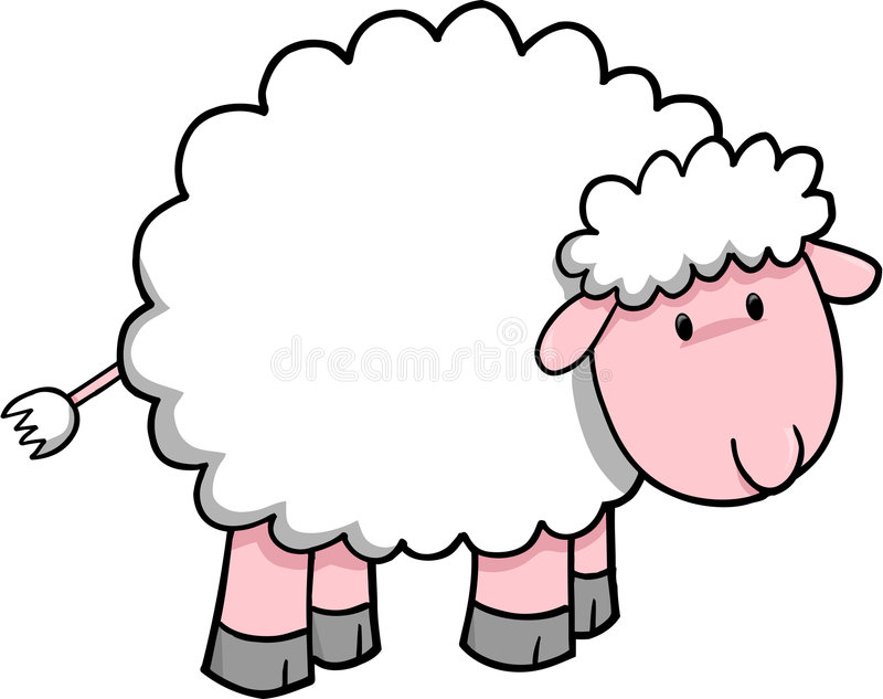Sheep Vector Illustration stock illustration