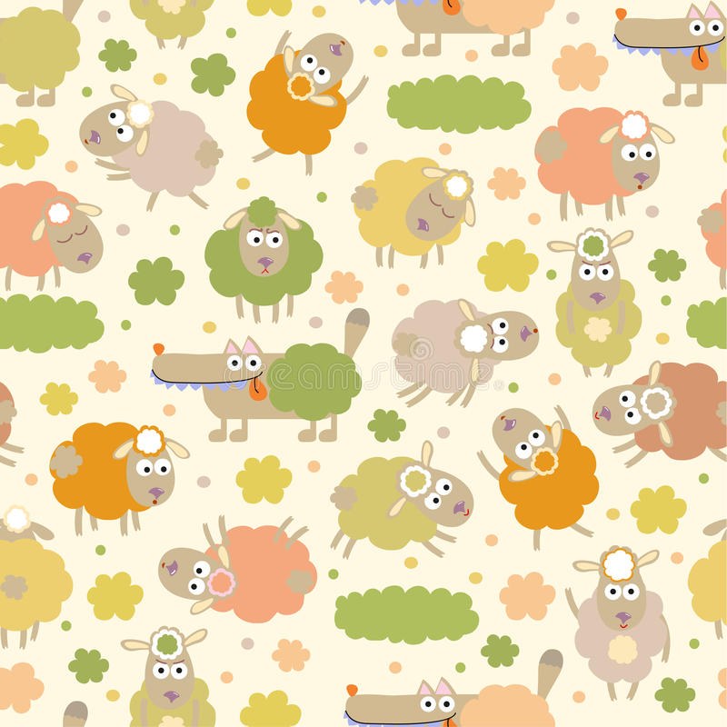 Download Sheep And Wolf Stock Vector Illustration Of Childish