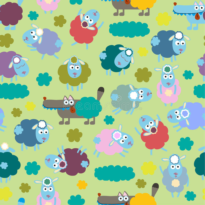 Download Sheep And Wolf Stock Vector Illustration Of Design Childhood