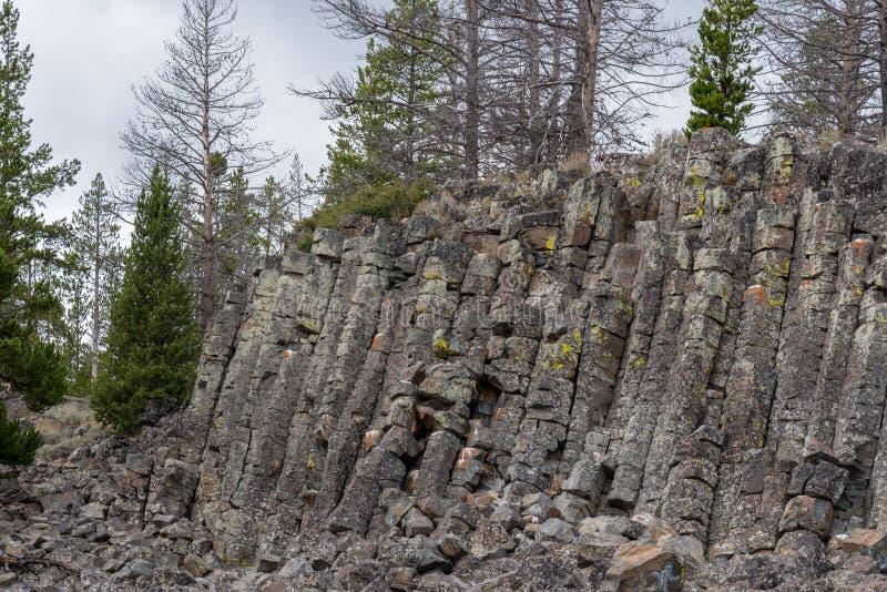 Sheepeater klippa i den Yellowstone nationalparken arkivfoton